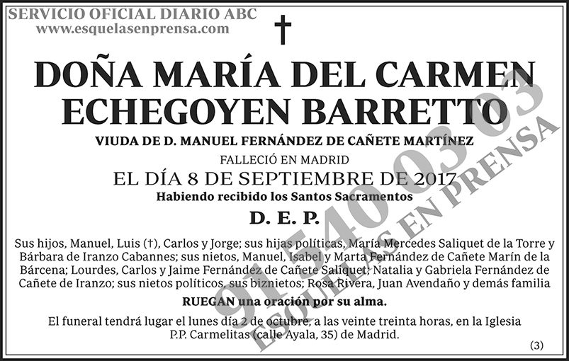 María del Carmen Echegoyen Barretto